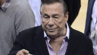 Los Angeles Clippers owner Donald Sterling attends the NBA playoff game between the Clippers and the Golden State Warriors Los Angeles 21 April 2014