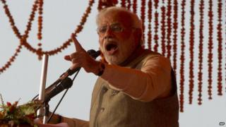 Mr Modi is likely to become India's next PM, exit polls say