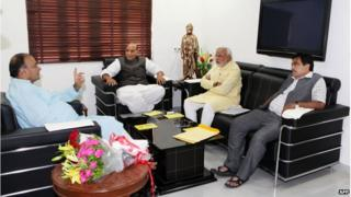 BJP's top leaders reportedly discussed their strategy to form the next government
