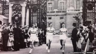 L-R Peter Driver, Roger Bannister and Chris Chataway