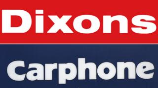 """Composite of signs saying """"Dixons"""" and """"Carphone"""""""