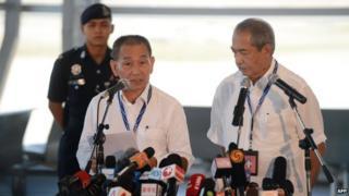 Malaysia Airlines chief executive Ahmad Jauhari Yahya and chairman
