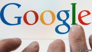 Google on a tablet