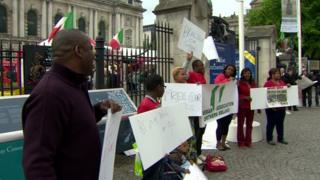 The Nigerian Association Northern Ireland held a rally in Belfast on Saturday