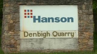Hanson Denbigh Quarry sign