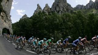 The Tour in the mountains