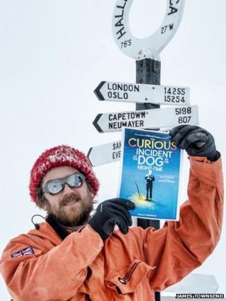 James Townsend with Curious Incident poster