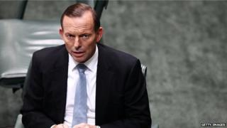 Australia's Prime Minister Tony Abbott before House of Representatives question time at Parliament House on 14 May in Canberra, Australia.