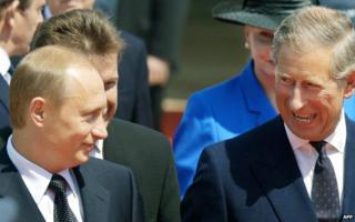Vladimir Putin and Prince Charles meet in 2003
