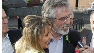 Martina Anderson with party leader Gerry Adams