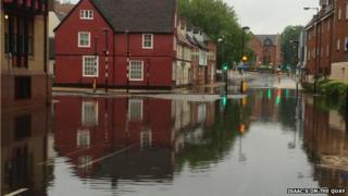 Flooding on Fore Street