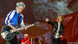 The Rolling Stones on stage in Oslo
