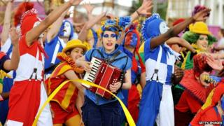 National Youth Theatre of Great Britain performing at London 2012 Olympic Games