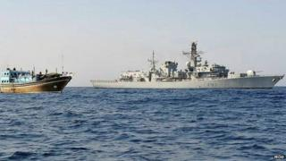 HMS Somerset on operations in the Gulf