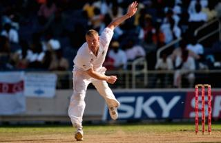 Andrew Flintoff during the First Test at Sabina Park, Kingston, Jamaica in 2009