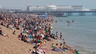 Brighton beach, May 2014