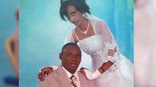 Meriam Yehya Ibrahim Ishag pictured on her wedding day with her husband Daniel Wani