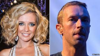 Rachel Riley and Chris Martin
