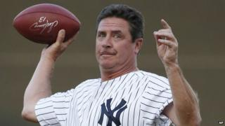 Former Miami Dolphins quarterback Dan Marino appeared in Tampa, Florida, on 21 March 2014