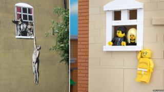 Hanging man - Real and Lego