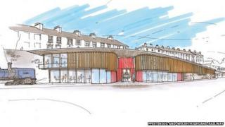 An architect's impression of the new station
