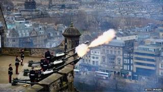 There will be a 21-gun salute to mark the Queen's official birthday and the Queen's Baton Relay in Edinburgh