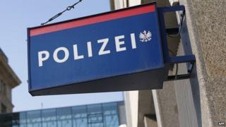 Austrian police sign