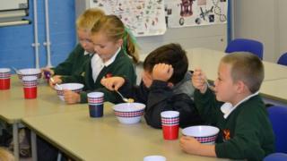A school breakfast club