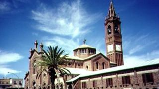 The Catholic cathedral in Asmara