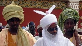Emir of Kano Lamido Sanusi (c)