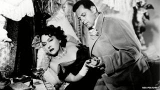 Gloria Swanson and William Holden in Sunset Boulevard