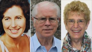 From left to right Pamela Shimwell-Mayo (MBE), Tim Cullen (MBE) and Judy Arnold (BEM)