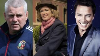Warren Gatland, Cerys Matthews and John Barrowman