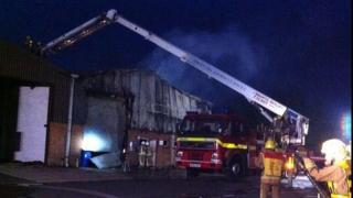 Fire on Ferndown industrial estate