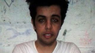 Video grab of Abdullah Elshamy. 14 May 2014