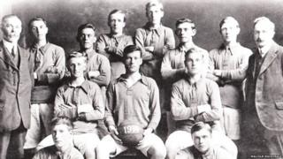 Nicolson Institute school footballers in 1914