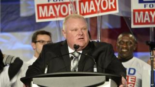 Toronto Mayor Rob Ford appeared in Toronto, Ontario, on 17 April 2014