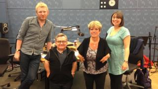 Kate and Rob with Simon and Simone in the studio