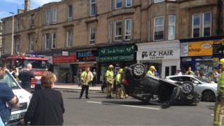 Car on roof in Shawlands