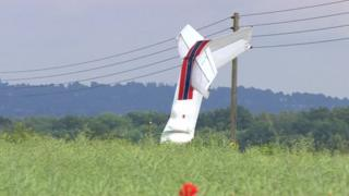 Aircraft in a Nottinghamshire field