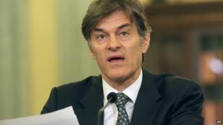 Dr Mehmet Oz testifying before a US Senate Committee on 17 June, 2014.