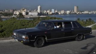 Soviet-made limousine ferrying tourists. 18/06/2014
