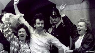 Gerry Conlon pictured upon his release