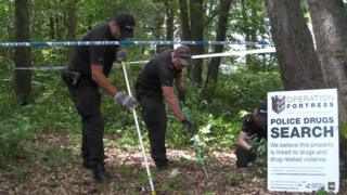Hampshire police searching Netley Common forest