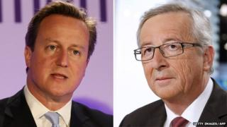 David Cameron & Jean-Claude Juncker