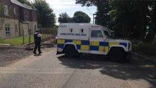scene of crash on upper Springfield road in Belfast