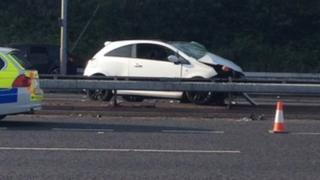 Crash in East Lancashire Road between between Lancaster Road and Worsley Road