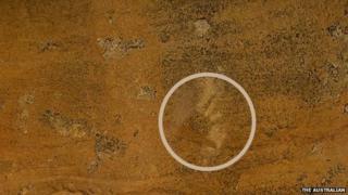 Aboriginal hand stencil