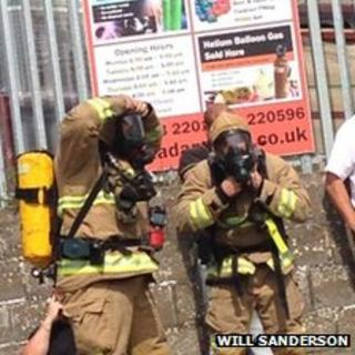 Firefighters in Margate