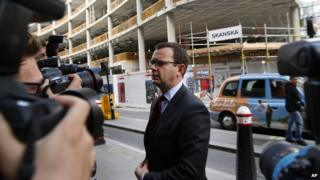 Andy Coulson arriving at the Old Bailey on 25 June 2014